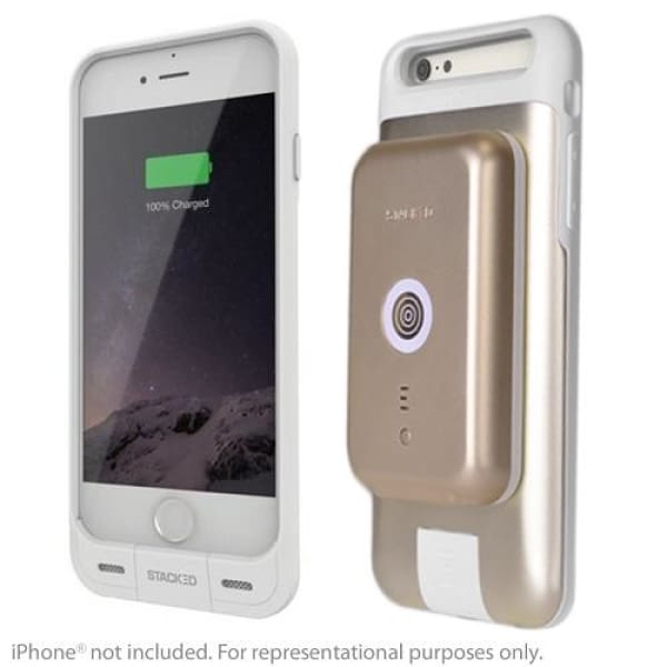 STACKED iPhone 6 / 6S PLUS Stack Pack for Wireless Charging with Case (Gold) - Charging Case
