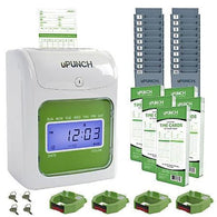 uPunch UB1000 Electronic Punch Card Time Clock Bundle - Time Clock