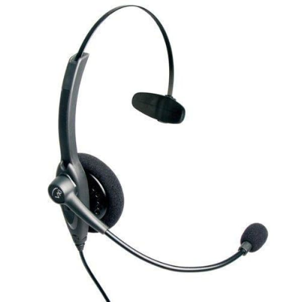 VXi 201559 Passport 10V Over-the-Head Monaural Headset with N/C Microphone - Headset Microphone
