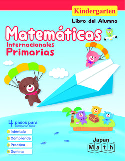 Japan Math Kindergarten Lesson Book - Spanish