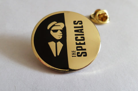 THE SPECIALS gold SKA 2tone METAL BADGE