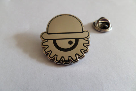 CLOCKWORK ORANGE COG/BOWLER (SILVER) oi! skinhead SKA METAL BADGE - Savage Amusement