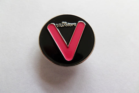 THE VIBRATORS PUNK METAL BADGE few only