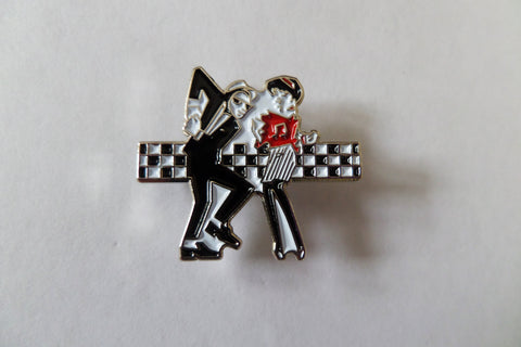 WALT JABSCO & BEAT GIRL  SKA METAL BADGE