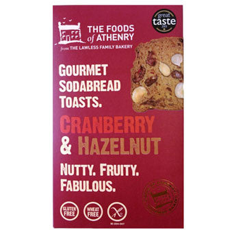Foods of Athenry Gluten Free Hazelnut & Cranberry Toasts Box 110g