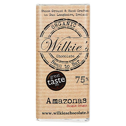 Wilkies Amazonas with Cocoa Nibs 75% Organic Dark Chocolate 65g