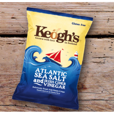 Keogh's Atlantic Sea Salt & Cider Vinegar Crisps 50g