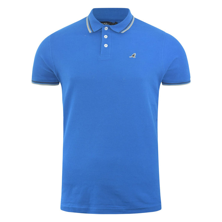 Mens Polo Shirt Kangol Casual Summer Pique Tee Top Carta A - Kandor Clothing Company Ltd UK