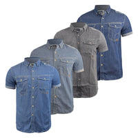 Mens Denim Shirt Smith and Jones Casual Shirt - Kandor Clothing Company Ltd UK