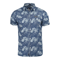 Mens Firetrap Lightweight Short Sleeve Denim Summer Shirt - Slim Fit - Kandor Clothing Company Ltd UK