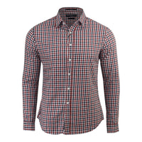 Mens check shirt Long Sleeve crosshatch - Kandor Clothing Company Ltd UK