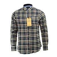 Mens Shirt Brave Soul Brushed Cotton Winter Long Sleeve Check Shirt Casual Top - Kandor Clothing Company Ltd UK