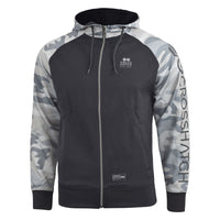 Mens hoodie crosshatch leymoor Full zip top - Kandor Clothing Company Ltd UK