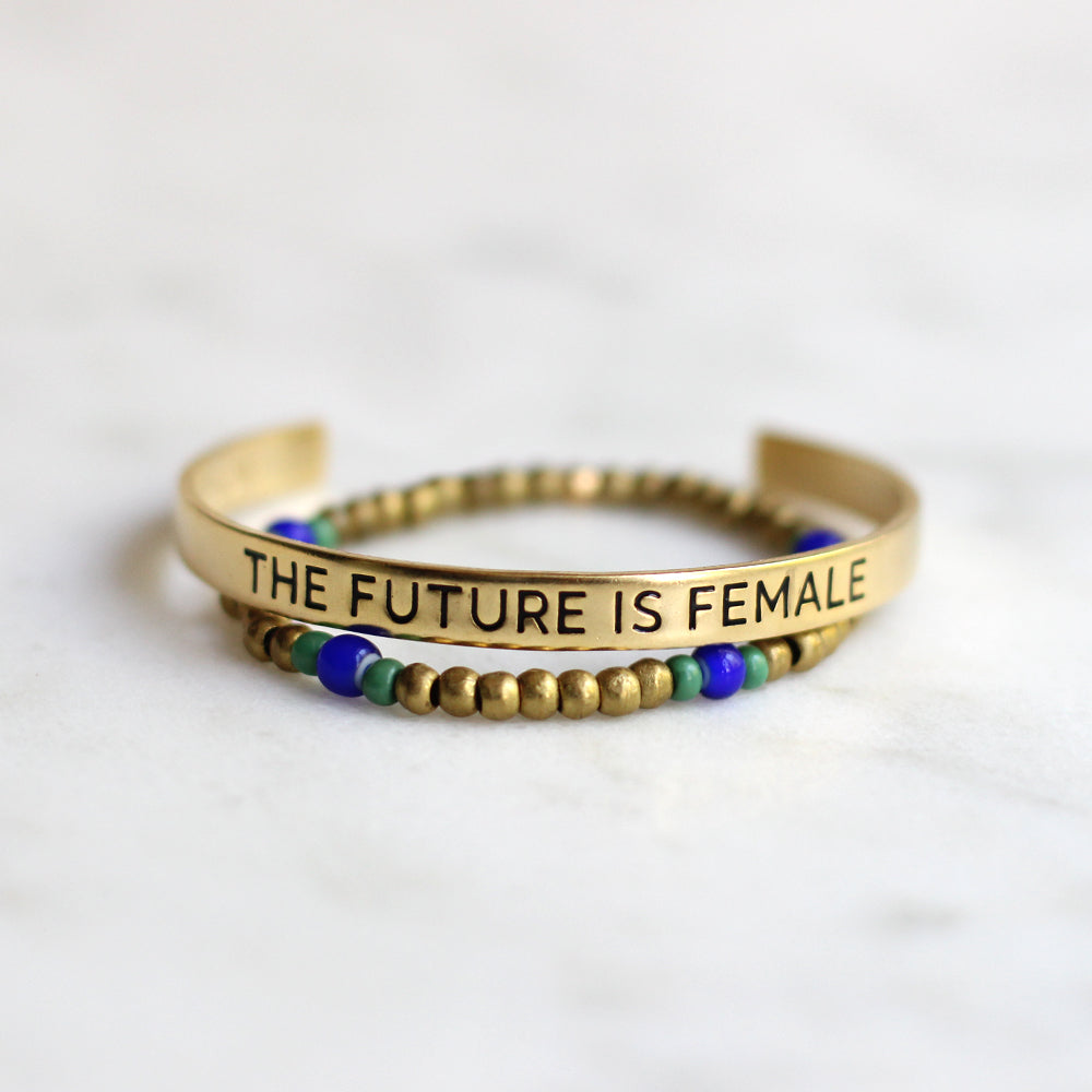 'The Future is Female' + Ruth Bracelet Set