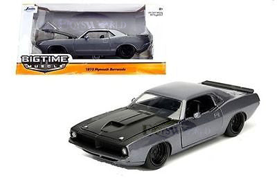 1:24 Scale Big Time Muscle 1973 Black Plymouth Barracuda by Jada