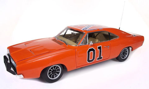 Autoworld 1:18 Scale 1969 Dodge Charger Dukes Of Hazzard General Lee Movie Diecast Model Car