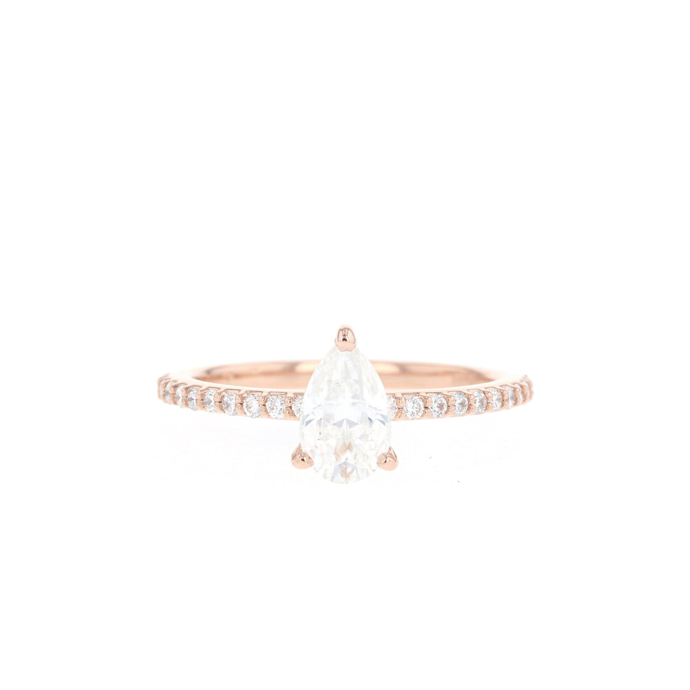 Dawn - 8x5mm Moissanite - Rose Gold - Ready to Ship