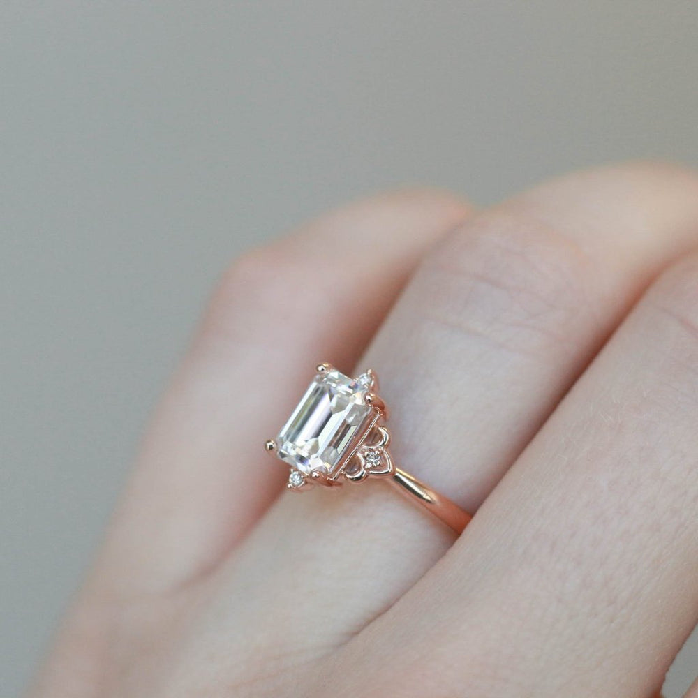 Evy - 8x6mm Moissanite - Rose Gold - Ready to Ship