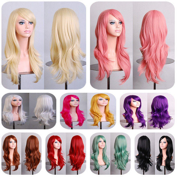 Heat Resistant Female Curly Wig-10 Colors