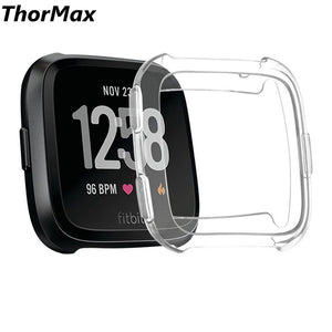 Thormax For Fitbit Versa Transparent Tpu Scratch-Resistant Flexible Soft Case Slim Lightweight Protective Bumper Cover - Goamiroo Store