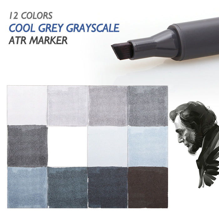 STA 12 Cool Grey Colors Art Markers Grayscale