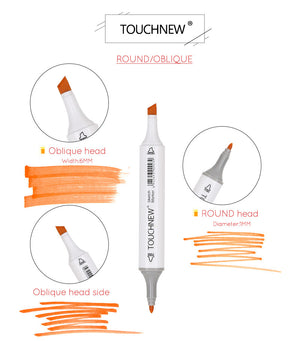 Touchnew 30/40/60/80 Colors Sketch Marker Pen - Goamiroo Store