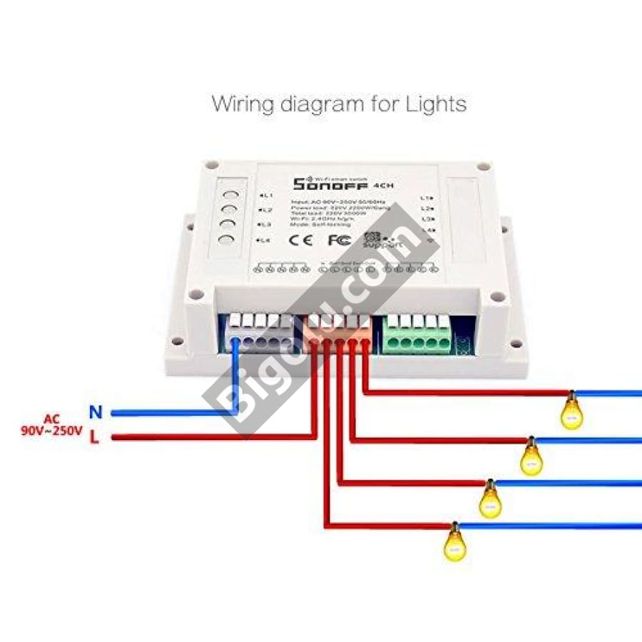 Four Channel Smart WiFi Switch