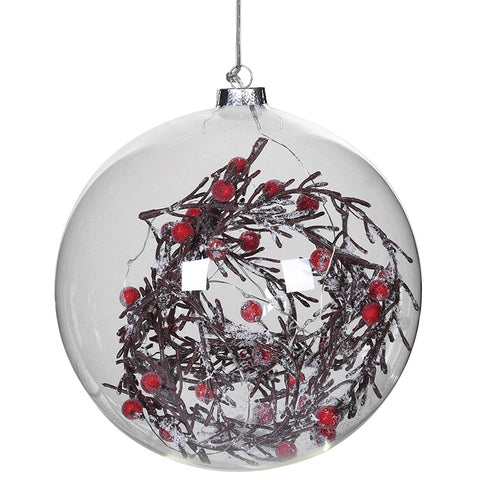 Large Lit Bauble with Berries
