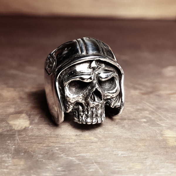 Sons of Haringey custom Hex Cavelli Biker Skull Ring
