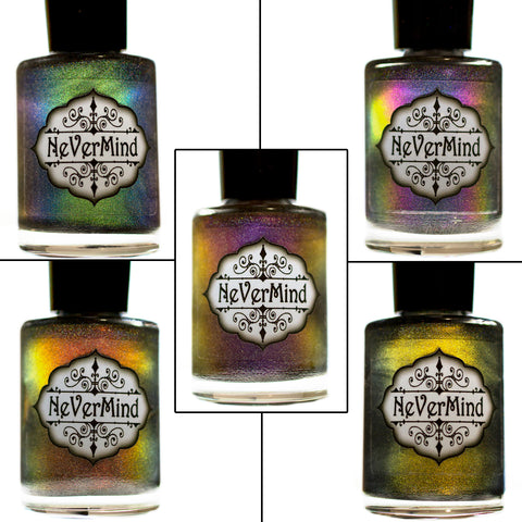 Daemonum Collection - NeVerMind Polish Nail Polish - Holographic Glitter  Crelly  Jelly Gift
