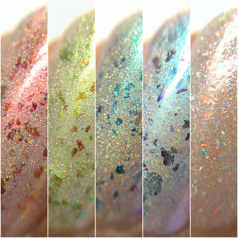 Myths & Magic Collection - NeVerMind Polish Nail Polish - Holographic Glitter  Crelly  Jelly Gift
