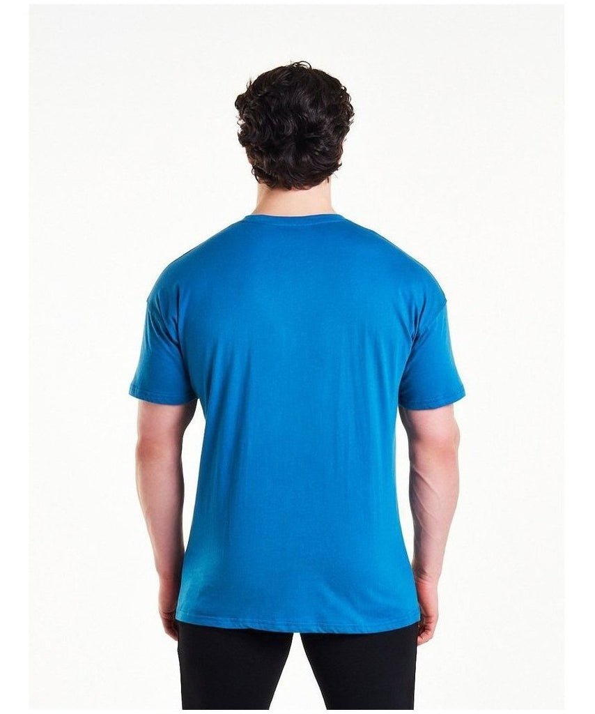 Pursue Fitness Comfort T-Shirt Blue-Pursue Fitness-Gym Wear