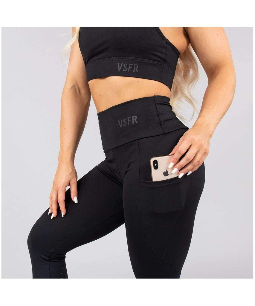 Versa Forma Mode High Waisted Leggings Black-Versa Forma-Gym Wear