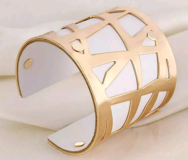 Abstract Leather Cuff