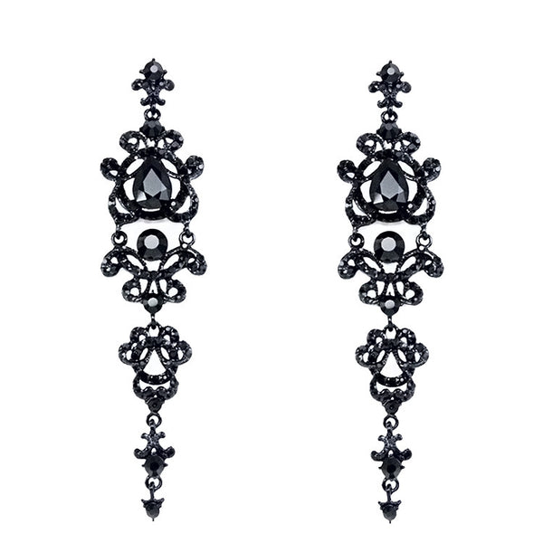 Rhinestone Vintage Chandelier Earrings