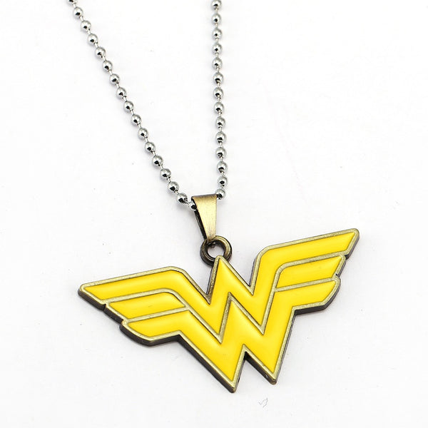 Superhero Wonder Woman Logo Necklace