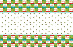 Christmas Holly Santa Party Plastic Table Cover -Pack of 1