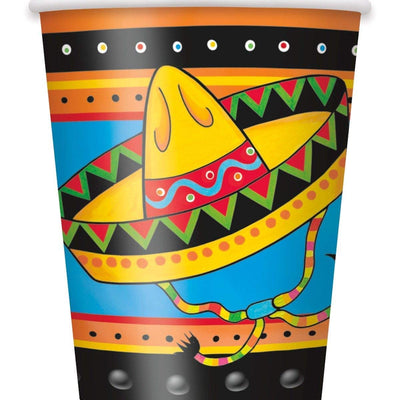 New Mexican Fiesta Paper Cups 9oz- Pack of 8