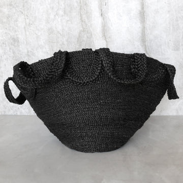 ECOLE MEETING JUTE BASKET BLACK