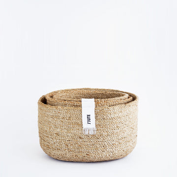 EDITION ROUND SET OF 3 JUTE STACKING BASKETS