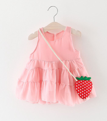 Pink Chiffon Ruffle Dress