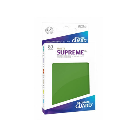 ltimate Guard Supreme UX Matte Sleeves Standard Size (80) green