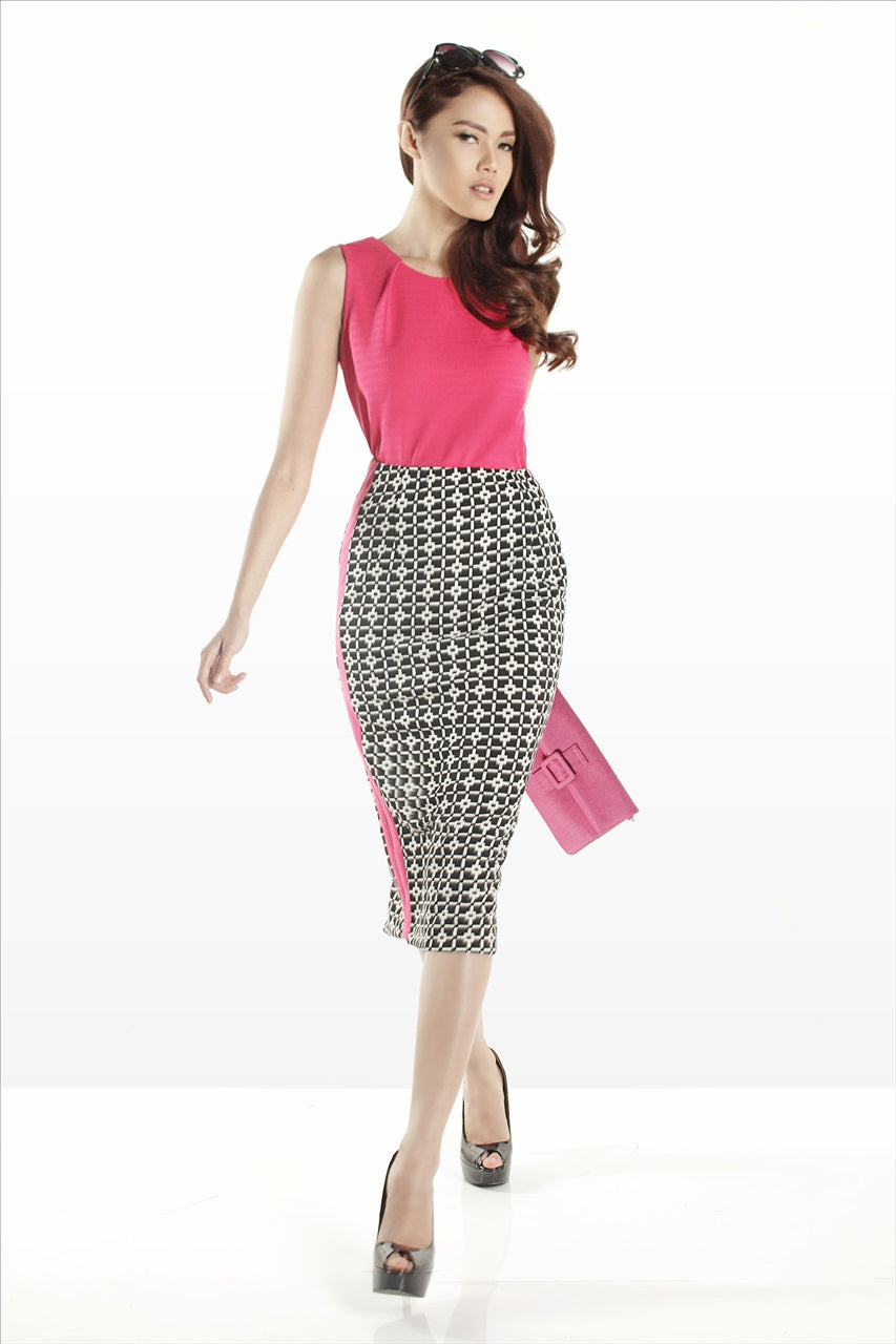 Polkadot Office Pants - Black