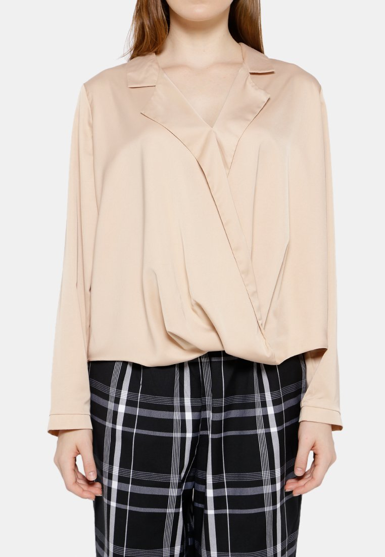 Party Draped Blouse - Cream