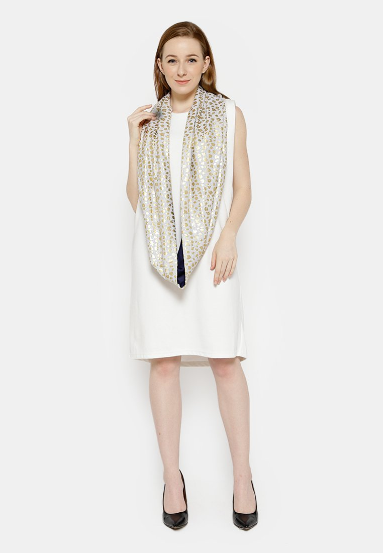 Two Tone Shawl Gold - Navy