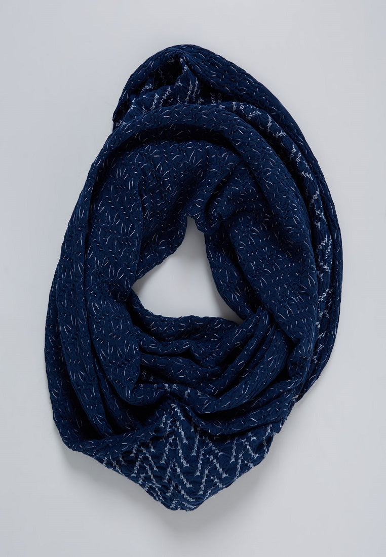 Two Tone Shawl Navy