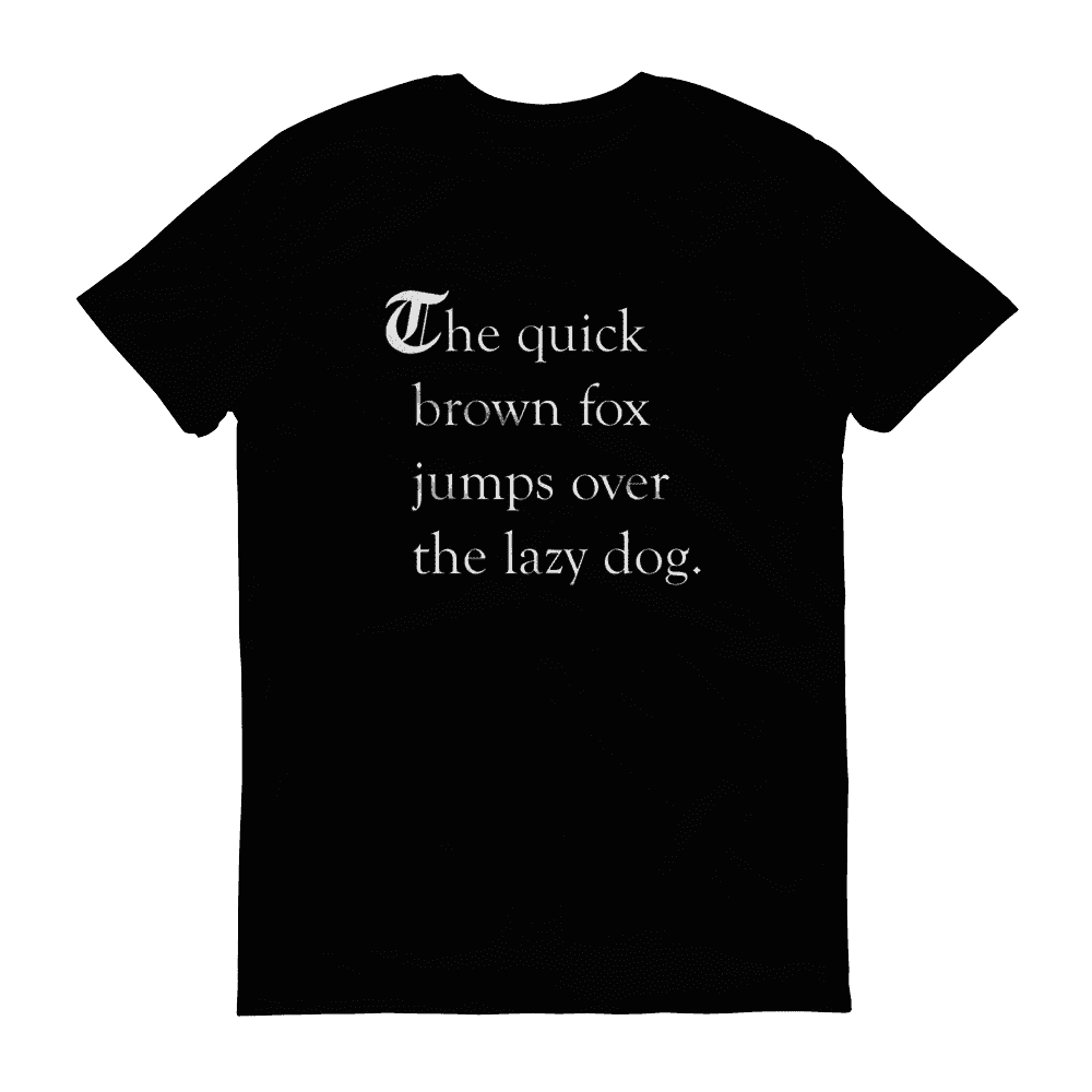 T-shirts - The Quick Brown Fox