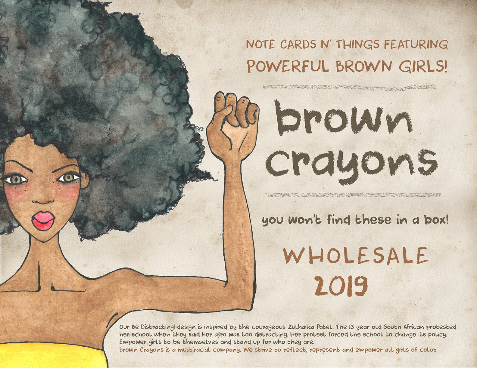 Brown Crayons Wholesale Line Sheet