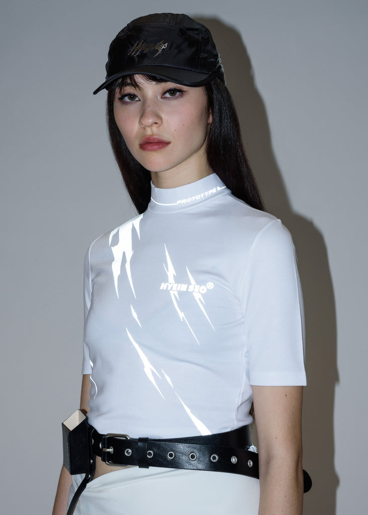 White Reflective Thunder Top