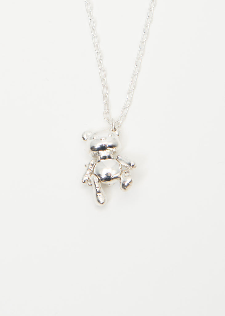 Silver Inflatable Teddy Bear Necklaces